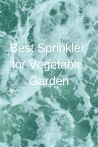 Best Sprinkler for Vegetable