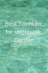 Best Sprinkler for Vegetable Garden